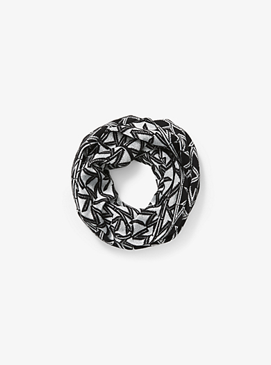 Logo Infinity Scarf by Michael Kors