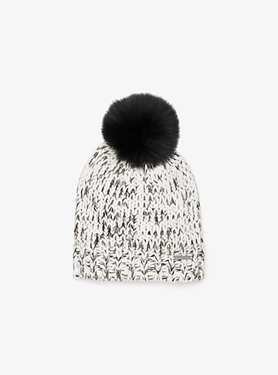 REAL FUR POM HAT by Michael Kors