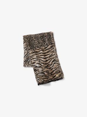 마이클 마이클 코어스 Michael Michael Kors Animal Patchwork Wrap Scarf