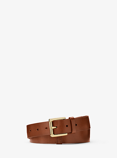 Leather Belt by Michael Kors