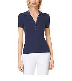 Featherweight Cashmere Polo Henley