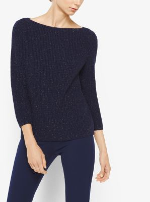 Metallic Wool-Blend Sweater by Michael Kors