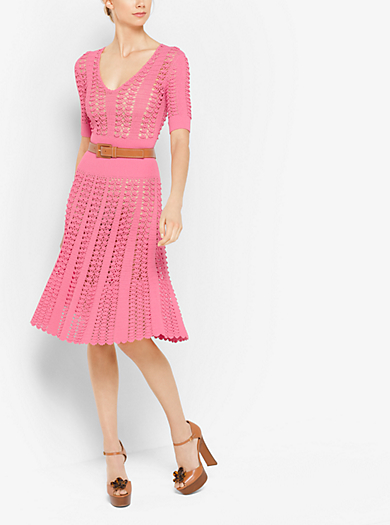 Hand-Crochet Stretch-Viscose Dress by Michael Kors