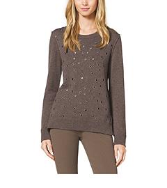 Grommet-Embellished Cashmere Sweater