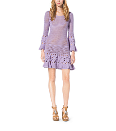 Hand-Crocheted Cotton Cashmere Dress by Michael Kors