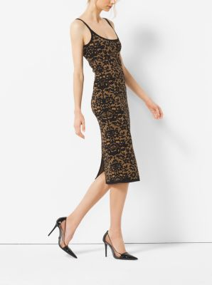 Floral Stretch-Viscose Dress by Michael Kors