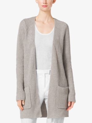 Shaker-Stitch Cashmere and Linen Cardigan by Michael Kors