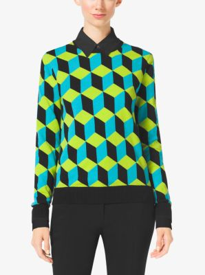 Hexagon Cashmere Sweater  by Michael Kors