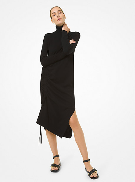 Michael Kors CASHMERE DRAPED TURTLENECK DRESS