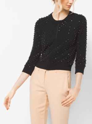 Embroidered Cashmere Cardigan  by Michael Kors