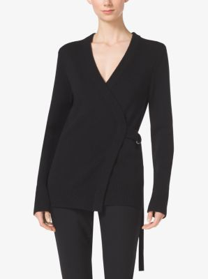 Crossover Cashmere Cardigan by Michael Kors