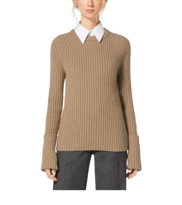 Cashmere Ribbed Sweater  by Michael Kors