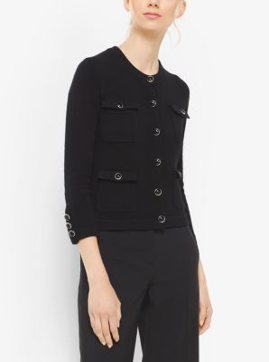 Four-Pocket Cashmere Cardigan by Michael Kors