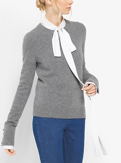 Pullover in cashmere con polsini con bottoni by Michael Kors
