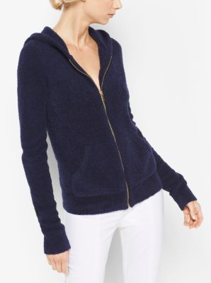 Cashmere and Silk Terry Hoodie by Michael Kors