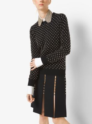 Studded Cashmere Sweater by Michael Kors