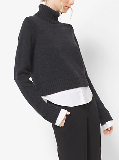 Dolcevita in cashmere a strati by Michael Kors