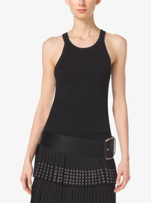 Stretch-Viscose Tank  by Michael Kors