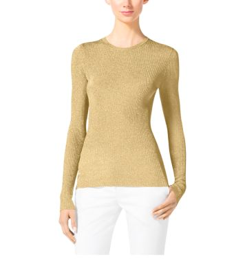 Metallic Crewneck Sweater by Michael Kors