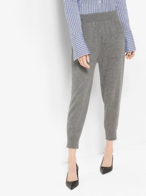 Cashmere Cropped Sweatpants by Michael Kors