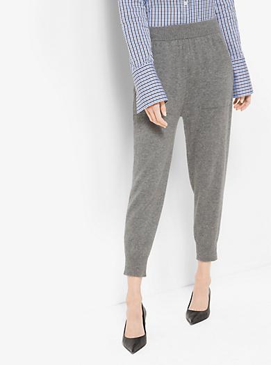Pantaloni felpati corti in cashmere by Michael Kors