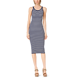 Striped Stretch-Jersey Tank Dress