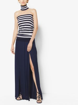 Striped Cashmere Tube Top and Collar by Michael Kors