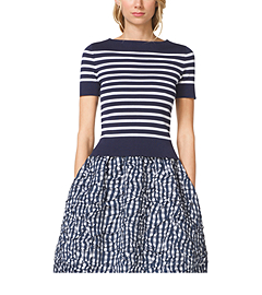 Striped Compact Cotton Top
