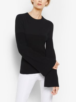 Bell-Sleeve Cashmere Sweater by Michael Kors