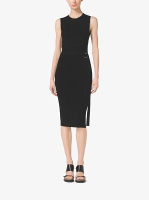 Belted Stretch-Viscose Sheath Dress by Michael Kors