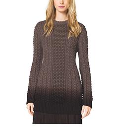 Aran Dip-Dye Merino Wool Pullover