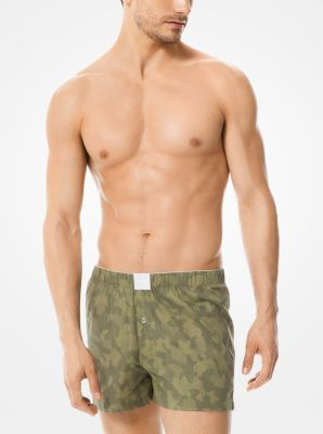 마이클 코어스 속옷 하의 Michael Kors 2-Pack Printed Stretch Cotton-Poplin Boxers
