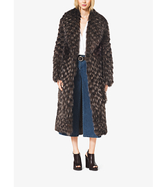 Fox Fur Tweed Coat