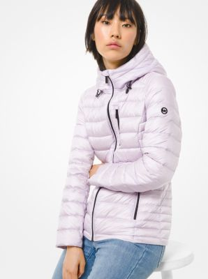 마이클 마이클 코어스  패커블 푸퍼 패딩 Michael Michael Kors Quilted Nylon Packable Puffer Jacket,ORCHID
