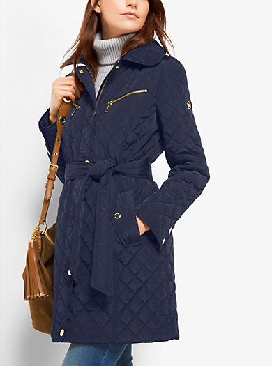 Quilted-Nylon Jacket         by Michael Kors