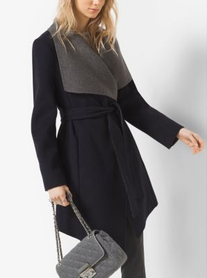 Double-Face Wool-Blend Cardigan by Michael Kors
