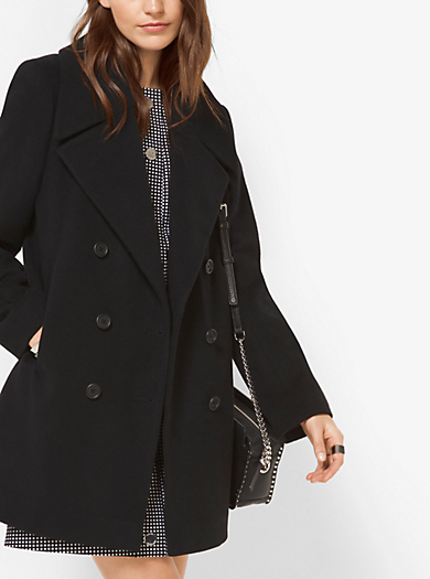 Wool and Cashmere Peacoat  by Michael Kors