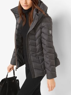 Packable Quilted Nylon Jacket Michael Kors
