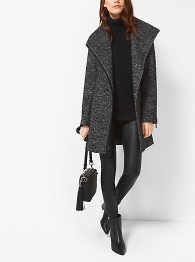 Wool-Blend Tweed Coat by Michael Kors