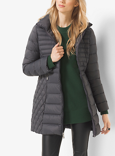 Packable Quilted-Nylon Jacket by Michael Kors