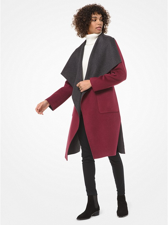 Double-Face Wool-Blend Wrap Coat | Michael Kors