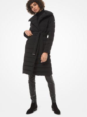 마이클 마이클 코어스 숄 칼라 퀼팅 푸퍼 코트 - 블랙 Michael Michael Kors Shawl-Collar Quilted Puffer Coat,BLACK