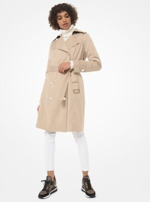 마이클 마이클 코어스 Michael Michael Kors Cotton-Blend Trench Coat,KHAKI