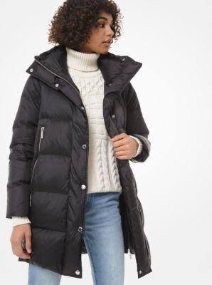 마이클 마이클 코어스 Michael Michael Kors Quilted Nylon Puffer Coat,BLACK