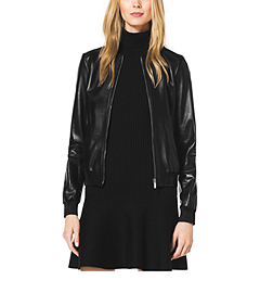 Plongé Leather Bomber Jacket
