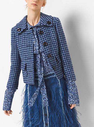 Giacca pied de poule in tweed by Michael Kors