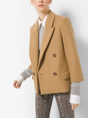 Wool-Melton Chesterfield Jacket by Michael Kors