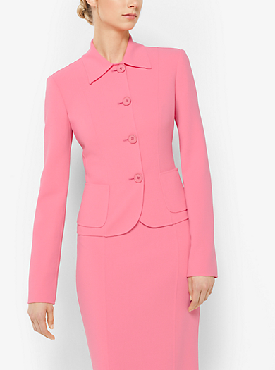 Stretch Wool-Crepe Jacket by Michael Kors