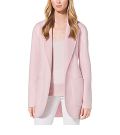 Double-Face Cashgora Bathrobe Jacket