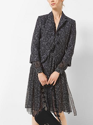 Tweed Wool Jacquard Jacket by Michael Kors